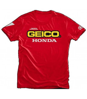 T-shirt Homme Official 100 Percent Honda Geico Officiel MotoCross