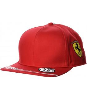 Casquette Plate Ferrari Scuderia F1 Team Leclerc Officiel