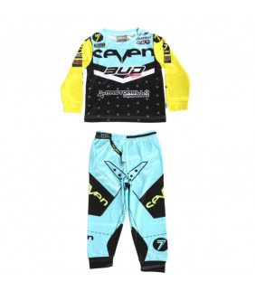 Pyjama Enfant Bud Racing 2 pièces Officiel Motocross