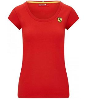 Tshirt Femme Ferrari Scuderia Team Motorsport F1 Officiel Formule 1