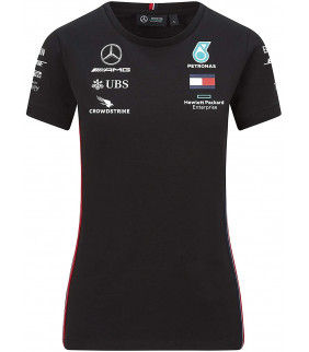 T-Shirt Femme Mercedes AMG Petronas Motorsport Team F1 Formula Driver