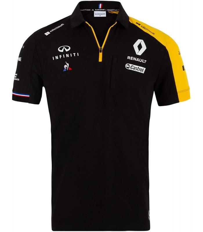 Polo Homme Renault Team Le Coq Sportif F1 Racing Officiel Formule 1