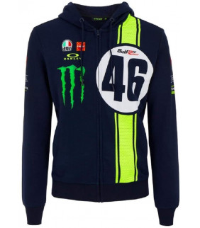 Sweat a Capuche Zip Homme Valentino Rossi Abu Dhabi 12Hrs Edition Limited VR46