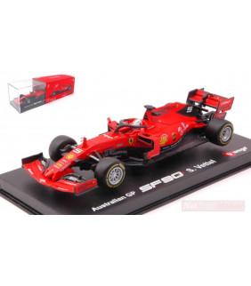 Formule 1 miniature Ferrari SF90 Sebastian Vettel 2019 N.5 Australian Signature 1:43