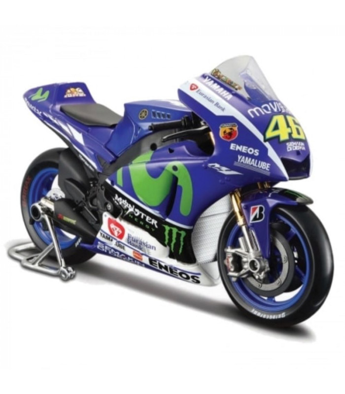 Moto Miniature VR46 Yamaha YZR-M1 1:10 Valentino Rossi 46 Officiel MotoGP