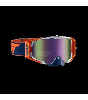 Masque LEATT Velocity 6.5 Iriz - orange/bleu marine - Ecran violet 30% Officiel Motocross/VTT/BMXDH