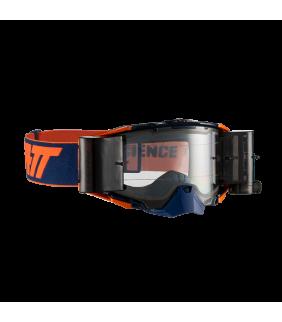 Masque LEATT Velocity 6.5 Roll-Off - bleu marine/orange - Ecran clair 83% Officiel Motocross/VTT/BMXDH