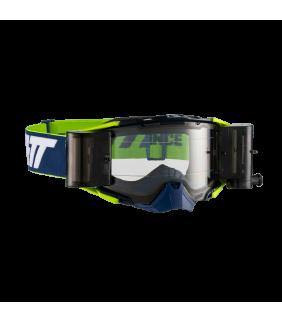 Masque LEATT Velocity 6.5 Roll-Off - bleu marine/blanc/jaune - Ecran clair 83% Officiel Motocross/VTT/BMXDH