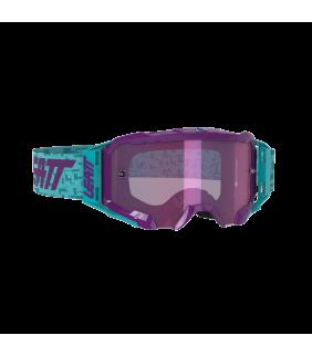 Masque LEATT Velocity 5.5 Iriz - bleu Aqua - Ecran violet Purple 78% Officiel Motocross/VTT/BMXDH