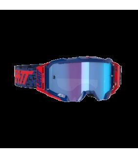 Masque LEATT Velocity 5.5 Iriz - bleu Royal - Ecran bleu 49% Officiel Motocross/VTT/BMXDH