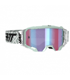 Masque LEATT Velocity 5.5 Iriz - blanc - Ecran bleu UC 26% Officiel Motocross/VTT/BMXDH