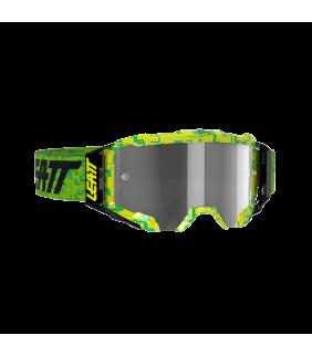 Masque LEATT Velocity 5.5 - lime Neon - Ecran gris clair 58% Officiel Motocross/VTT/BMXDH