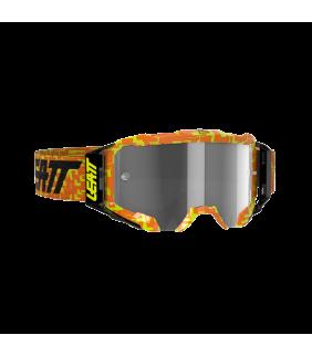 Masque LEATT Velocity 5.5 - orange Neon - Ecran gris clair 58% Officiel Motocross/VTT/BMXDH