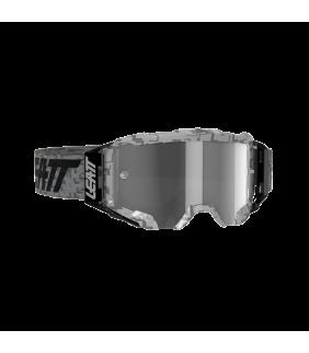 Masque LEATT Velocity 5.5 - gris Steel - Ecran gris clair 58% Officiel Motocross/VTT/BMXDH
