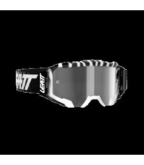 Masque LEATT Velocity 5.5 - noir/blanc Zebra - Ecran gris clair 58% Officiel Motocross/VTT/BMXDH