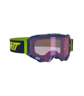 Masque LEATT Velocity 4.5 Iriz - bleu marine Ink - Ecran violet Purple 78% Officiel Motocross/VTT/BMXDH