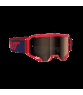 Masque LEATT Velocity 4.5 Iriz - rouge - Ecran Platinum UC 28% Officiel Motocross/VTT/BMXDH