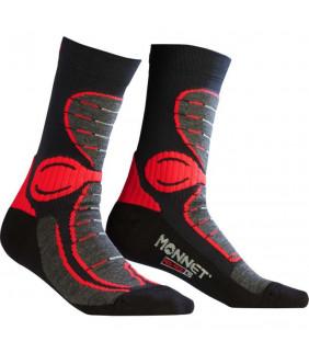 HEAD Hiking Quarter 2P Unisex Mi Chaussettes de randonn/ée Mixte Adulte FR Unique Taille Fabricant Black//Red