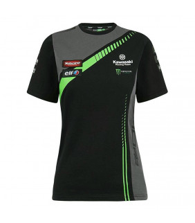 T-shirt femme Kawasaki Racing Team Réplique Officiel Superbike