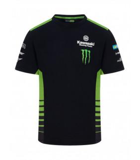 T-shirt Kawasaki Monster Energy KRT Racing Team Réplique Officiel Motocross