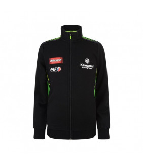 Sweat-shirt Zip Femme Kawasaki Racing Team Réplique Officiel Superbike