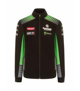 Sweat-shirt Zip Enfant Kawasaki Racing Team Réplique Officiel Superbike