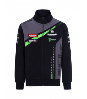 Sweat-shirt Zip Enfant Kawasaki Racing Team Réplique Officiel Superbike