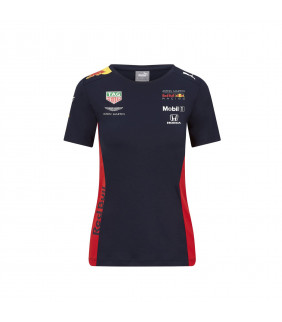 T-Shirt Femme Aston Martin Sponsor F1 Racing Formula Team RB Officiel Formule 1