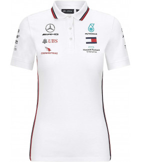 Polo Femme Mercedes AMG Petronas Motorsport Team Officiel F1 Formula Driver
