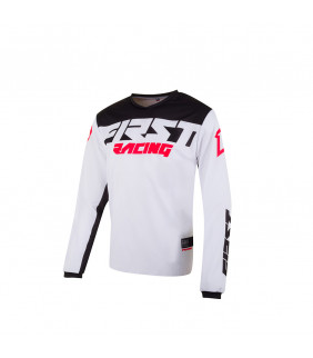 Maillot First Racing Data Evo Officiel Motocross - blanc/noir/rouge