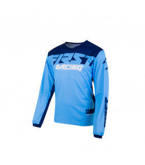 Maillot First Racing Data Evo Officiel Motocross - bleu/marine/blanc
