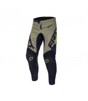 Pantalon First Racing Data Evo Officiel Motocross -  noir/kaki/fluo