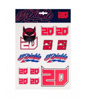 """Planche Sticker Fabio Quartararo 20 """"El diablo"""" Officiel MotoGP"""