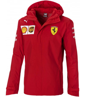 Veste Jacket Impermable Ferrari Scuderia Team Officiel logo F1 Officiel Formule 1
