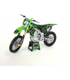 Moto Miniature New Ray 450 KXF Bud Racing Brian Hsu 1/12 ème