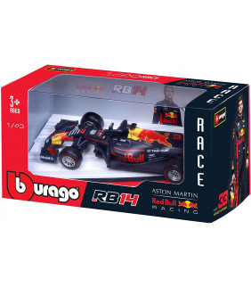 Voiture Miniature 1/43 Bburago Aston Martin RED Bull Racing RB14-MAX Verstappen F1 Driver Officiel Formule 1