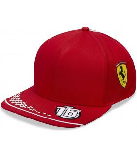 Casquette Plate enfant Ferrari Scuderia F1 Team Charles Leclerc 16