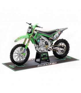 Moto Miniature Kawasaki Bud Racing 250 KXF N°319 Quentin Marc Prugnieres 1/12 ème NewRay