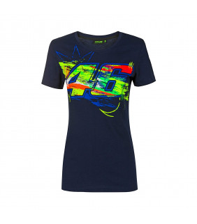 Tee-shirt Street Art Femme Valentino Rossi VR46 MotoGP