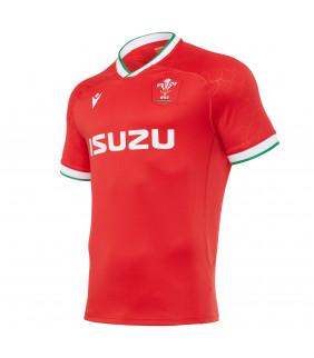 Maillot Rugby Macron Replica WRU Pays de Galles Domicile