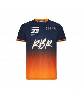 T-shirt Homme Max Verstappen Aston Martin Racing Formula Team RedBull Officiel F1