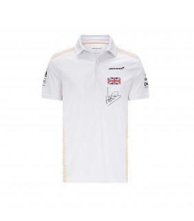 Polo Homme McLaren Lando NORRIS F1 Team Officiel Formule 1 Racing