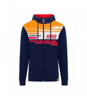 Sweat a Capuche Zip Repsol Dual JL99 Officiel MotoGP  Jorge Lorenzo