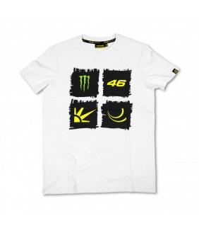 Tshirt VR46 Griffe Monster Soleil Lune Valentino Rossi MotoGP