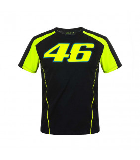 Tshirt Race Noir VR46 Valentino Rossi MotoGP