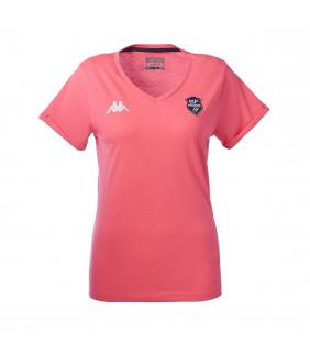 T-Shirt Kappa Femme Lea Stade Français Paris Officiel Rugby