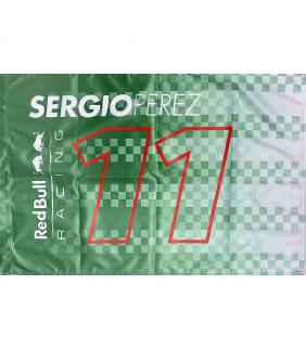 Drapeau Aston Martin Sergio Perez Racing Formula Team RedBull Officiel F1