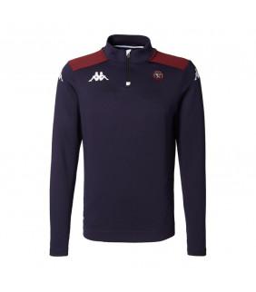 Sweatshirt Zip Kappa Ablas UBB Union Bordeaux Bègles Officiel Rugby