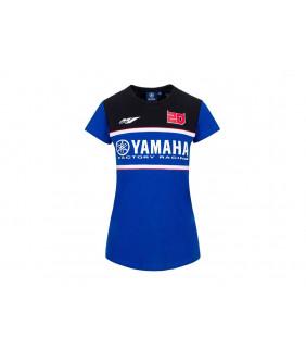 T-Shirt Femme Yamaha Factory Dual Fabio Quartararo 21 El Diablo Officiel MotoGP