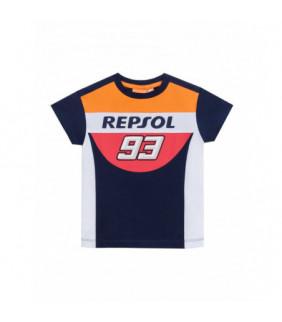 Tshirt Repsol MM93 Officiel MotoGP Générique Enfant Marc Marquez MotoGP